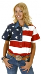 Women's Roper Short Sleeve Flag Shirt