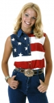 Women's Roper Sleeveless American Flag Shirt