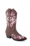 Brown Winged Heart Fashion Boot for Kid's