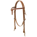 Deluxe Latigo Leather Knotted Browband Headstall by Weaver Leather