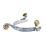 Ladies Roping Spurs with Engraved Band by Weaver Leather