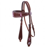 Bar H Equine Passionately Pink Collection Browband Headstall