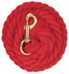 Cotton Lead Rope w/Brass Trigger Snap