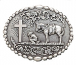 Praying Cowboy Cross Buckle by Nocona Belt Co.
