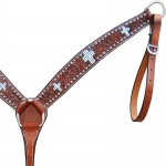 Crystal Inlay Cross Breastcollar from Bar H Equine
