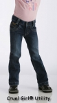 Girls Jeans Utility Slim Fit Jeans by Cruel Girl Clothing