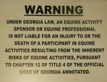 Georgia Equine Law Sign