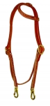 Sliding One Ear Headstall w/ Throatlatch and Snaps by Berlin Leather Company