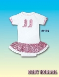 Pink Sequin Infant's Girls Western Onsie from Kiddie Korral