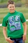 Boy's Green Puzzle Logo Shirt From Cinch