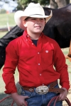 Boy's Solid Red Long Sleeve Shirt by Cinch Clothing