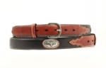 Kid's Black Steerhead Concho Belt by Nocona