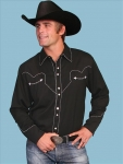 Black Western Men's Shirt from Scully