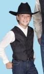 Black Paisley Kid's Dress Western Vest from Scully