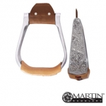 Engraved Aluminum Stirrup by Martin Saddlery