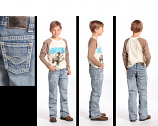 Boy's Light Wash Regular Fit Jeans by Rock and Roll Cowboy