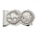Buffalo Indian Nickel Scalloped Money Clip by Montana Silversmiths