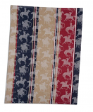 Red, White and Blue Roping Tea Towel by Key Dee Designs