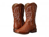 Kid's Tan Ostrich Print Western Boots by Roper
