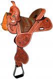 "Tammy Fisher Treeless ""Buckststch"" Saddle by Circle Y"