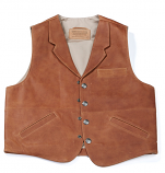 Men's Brown Classic Lapel Conceal and Carry Vest by Coronado Leather
