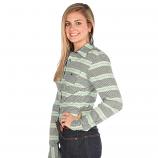 Women's Teal Printed Long Sleeve Arena Shirt by Cruel Girl