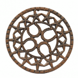Horseshoe and Star Round Trivet by M&F Western