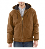 Men's Sandstone Active Jac/Quilted Flannel Line Jacket by Carhartt