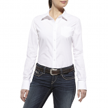 Women's Kirby Solid White Long Sleeve Shirt by Ariat