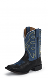Kid's Black and Blue Croco Boot by Nocona Boots