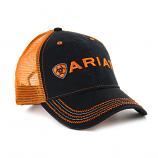 Men's Black/Orange Ball Cap by Ariat