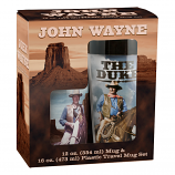 John Wayne Ceramic Mug and Travel Mug Set by Vandor