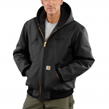 Men's Duck Active Quilted Flannel Lined Jacket with Hood by Carhartt