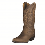 Men's Heritage Western R Toe Distressed Brown Boot by Ariat