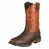 Men's Workhog Wide Square Toe Dark Earth Brown Boot by Ariat