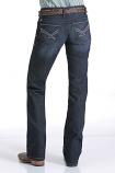 Women's Dark Wash Open Pocket Relaxed Fit Ada Jeans by Cinch
