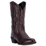 Men's Embroidered Round Toe Black Cherry Boot by Laredo