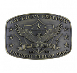 2nd Amendment Heritage Attitude Buckle by Montana Silversmiths