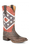 Men's Americana Rebel Flag Boot by Roper