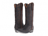 Women's Black and Chocolate Branded Boot by Old Gringo