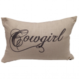 Script Cowboy & Cowgirl Throw Pillows by HiEnd Accents