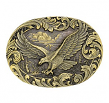 Soaring Eagle Heritage Attitude Belt Buckle by Montana Silversmiths