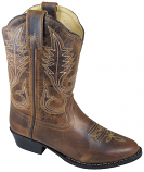 Waxed Brown Kid's Boot by Smoky Mountain