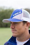 Men's Royal Blue Trucker Mesh Ball Cap by Cinch