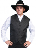 Men's Black Paisley Vest By Scully