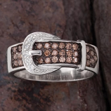 Chocolate Buckle Ring by Kelly Herd