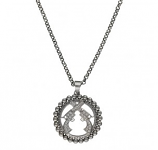 Small Studded Halo with Crossed Pistols Pendant by Montana Silversmiths