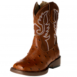 Toddler's Ostrich Print Western Boot by Roper