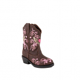 Toddler's Winged Heart Western Boots by Roper
