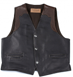 Men's Brown and Black Bison Garrison Canceal and Carry Vest by Coronado Leather